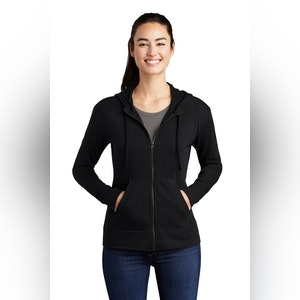 Sport-Tek  Ladies PosiCharge  Tri-Blend Wicking Fleece Full-Zip Hooded Jacket LST293