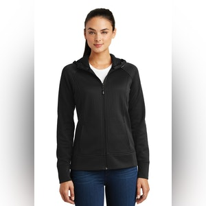Sport-Tek Ladies Rival Tech Fleece Full-Zip Hooded Jacket. LST295