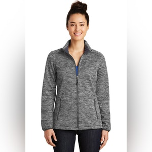 Sport-Tek Ladies PosiCharge Electric Heather Soft Shell Jacket. LST30