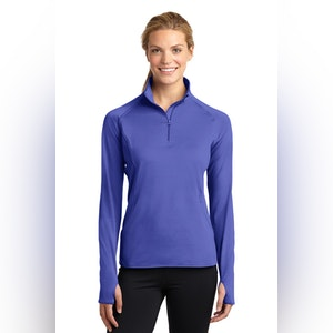 Sport-Tek Ladies Sport-Wick Stretch 1/2-Zip Pullover. LST850