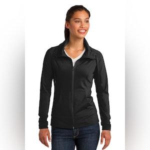 Sport-Tek Ladies Sport-Wick Stretch Full-Zip Jacket. LST852