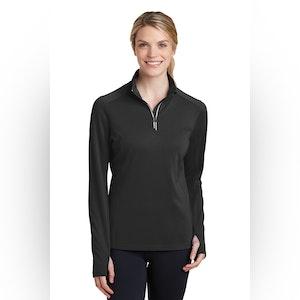 Sport-Tek Ladies Sport-Wick Textured 1/4-Zip Pullover.  LST860