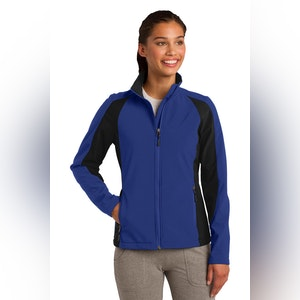 Sport-Tek Ladies Colorblock Soft Shell Jacket. LST970