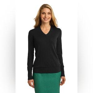 Port Authority Ladies V-Neck Sweater. LSW285