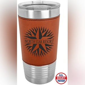 20 OZ LEATHERETTE WRAPPED POLAR CAMEL TUMBLER