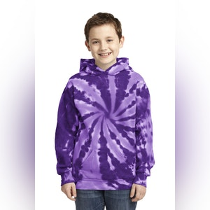 Port & Company Youth Tie-Dye Pullover Hooded Sweatshirt. PC146Y