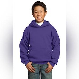 Port & Company - Youth Core Fleece Pullover Hooded Sweatshirt.  PC90YH