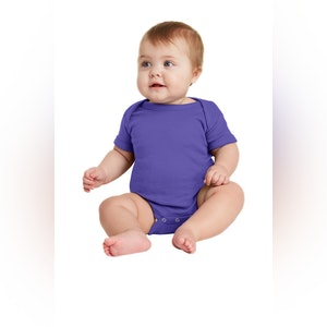 Rabbit Skins Infant Short Sleeve Baby Rib Bodysuit. RS4400