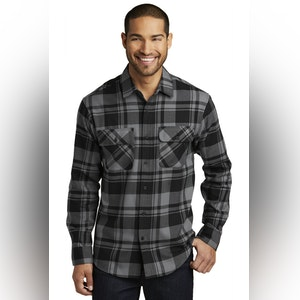 Port Authority Plaid Flannel Shirt. W668