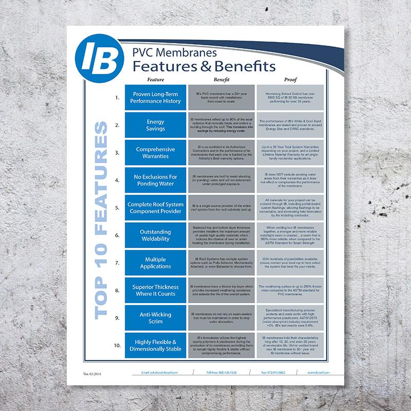 Features & Benefits Brochure