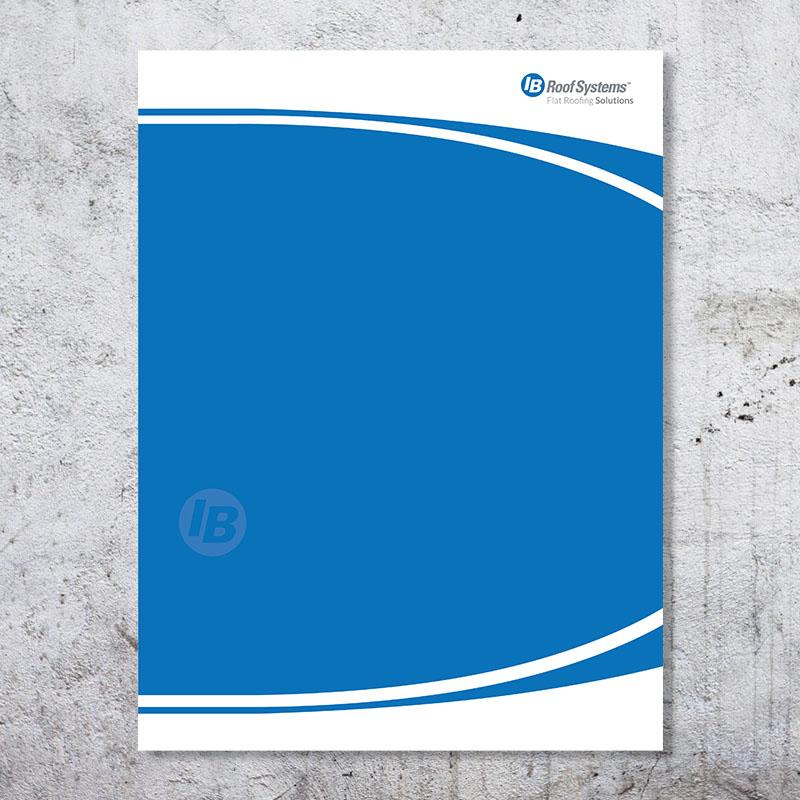 IB Blue Presentation Folders