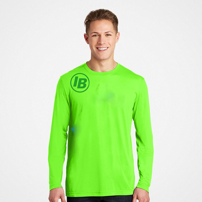 Port & Company Safety Green L/S T-Shirt