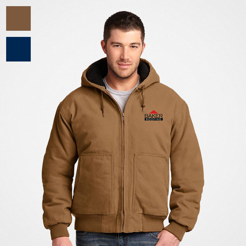 CornerStone Wash Duck Cloth Insulated Hooded Work Jacket