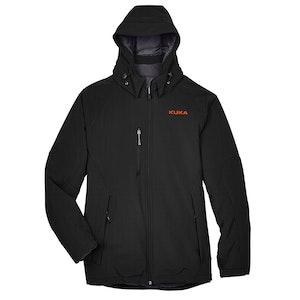 North End Men's Glacier Three-Layer Soft Shell Jacket w/Detachable Hood