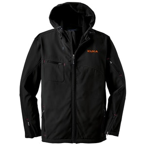 Port Authority Textured Hooded Soft Shell Jacket