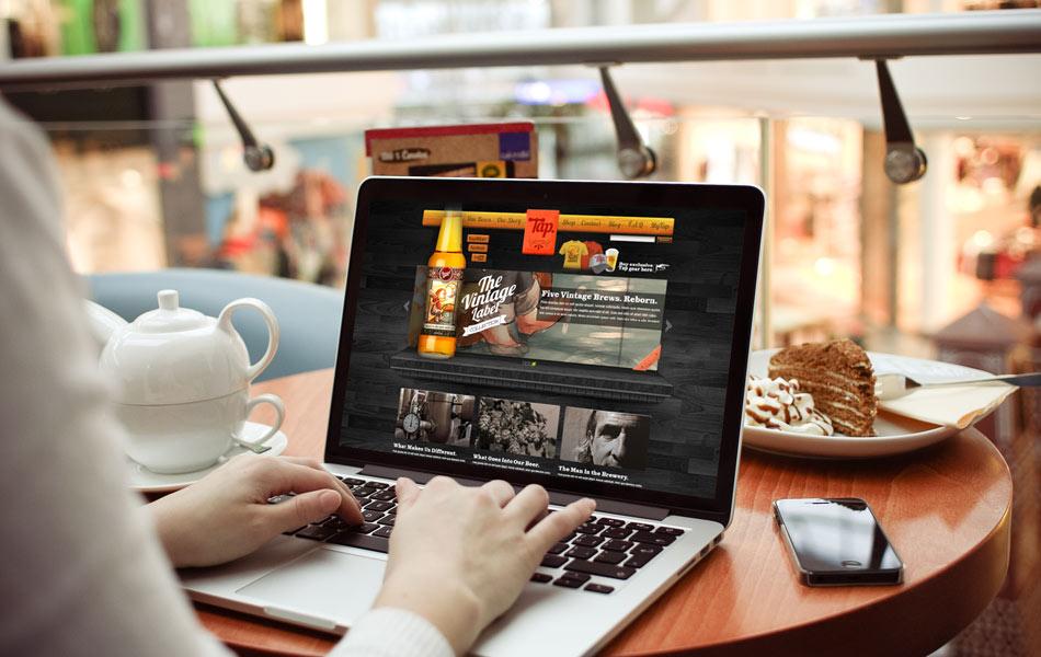Promatex website design – homepage