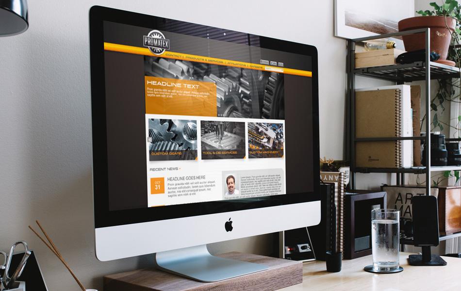 Promatex website design – interior