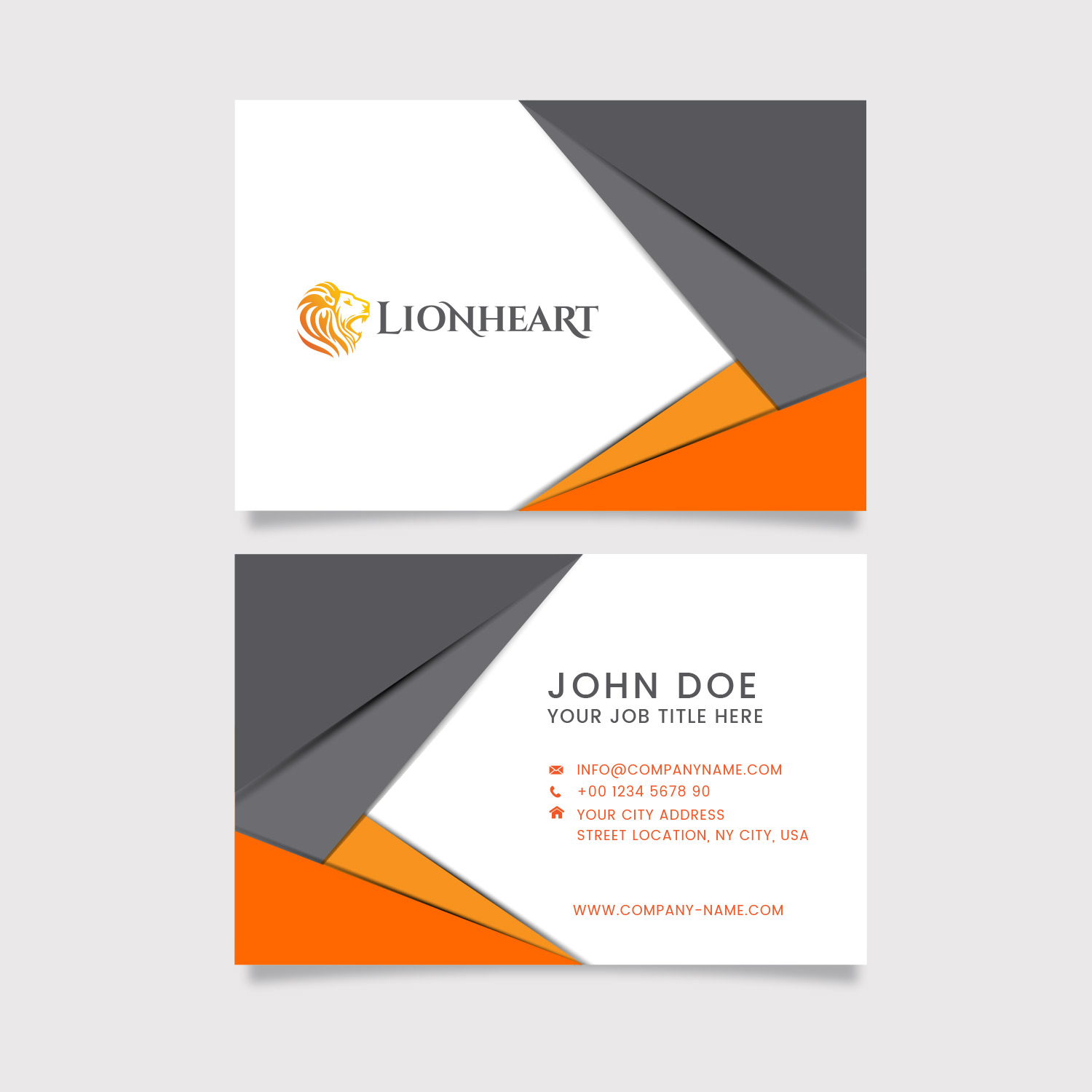 Lionheart Branded Cards
