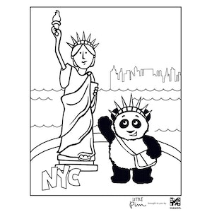 Coloring Sheet - Little Pim: Statue of Liberty