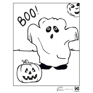 Coloring Sheet - Little Pim: Halloween