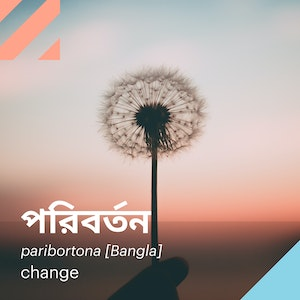 Words | paribortona (Bangla) | Facebook/Instagram