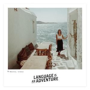 Language is an Adventure | Greece | Instagram