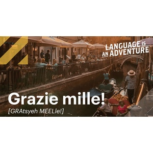 Italian Themed Social 2021 | Grazie mille! | Facebook + Twitter