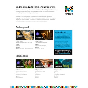 Endangered and Indigenous Course List