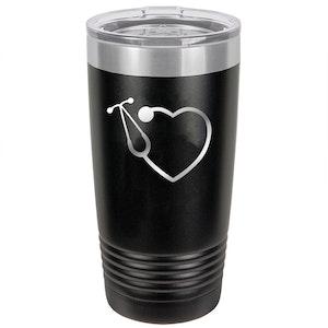 Polar Camel 20 oz. Vacuum Insulated Tumbler with Heart Logo