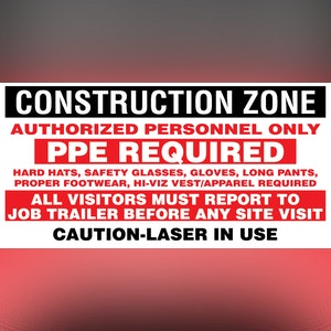 PPE Construction Banner (8 Foot)