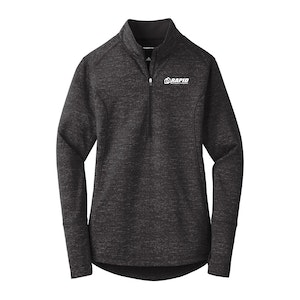 Sport-Tek Ladies Sport-Wick Stretch Reflective Heather 1/2-Zip Pullover