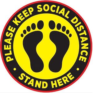 Generic Social Distancing Floor Decal