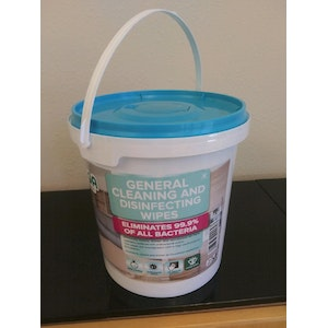 Bucket of Disinfecting Wipes