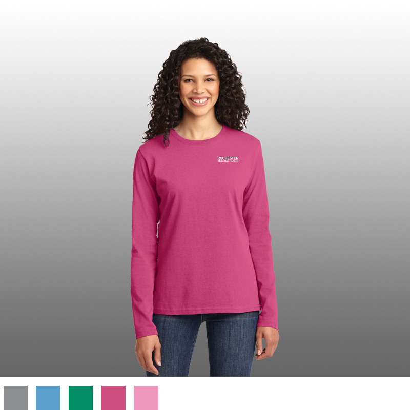 Port & Co.® Ladies Long Sleeve Cotton Tee