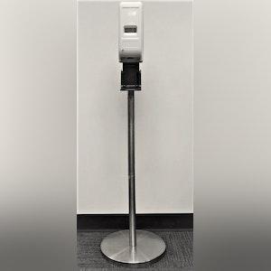 Hand Sanitizer Stand - Silver