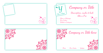Two Color Raised Printed Business Cards