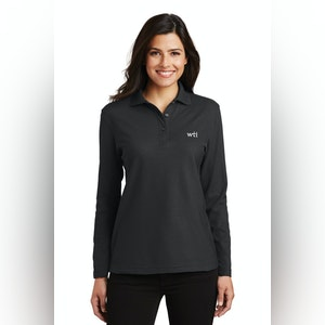 PA Ladies  Silk Touch Lng Slv Polo.  L500LS. Prices Starting At $24!