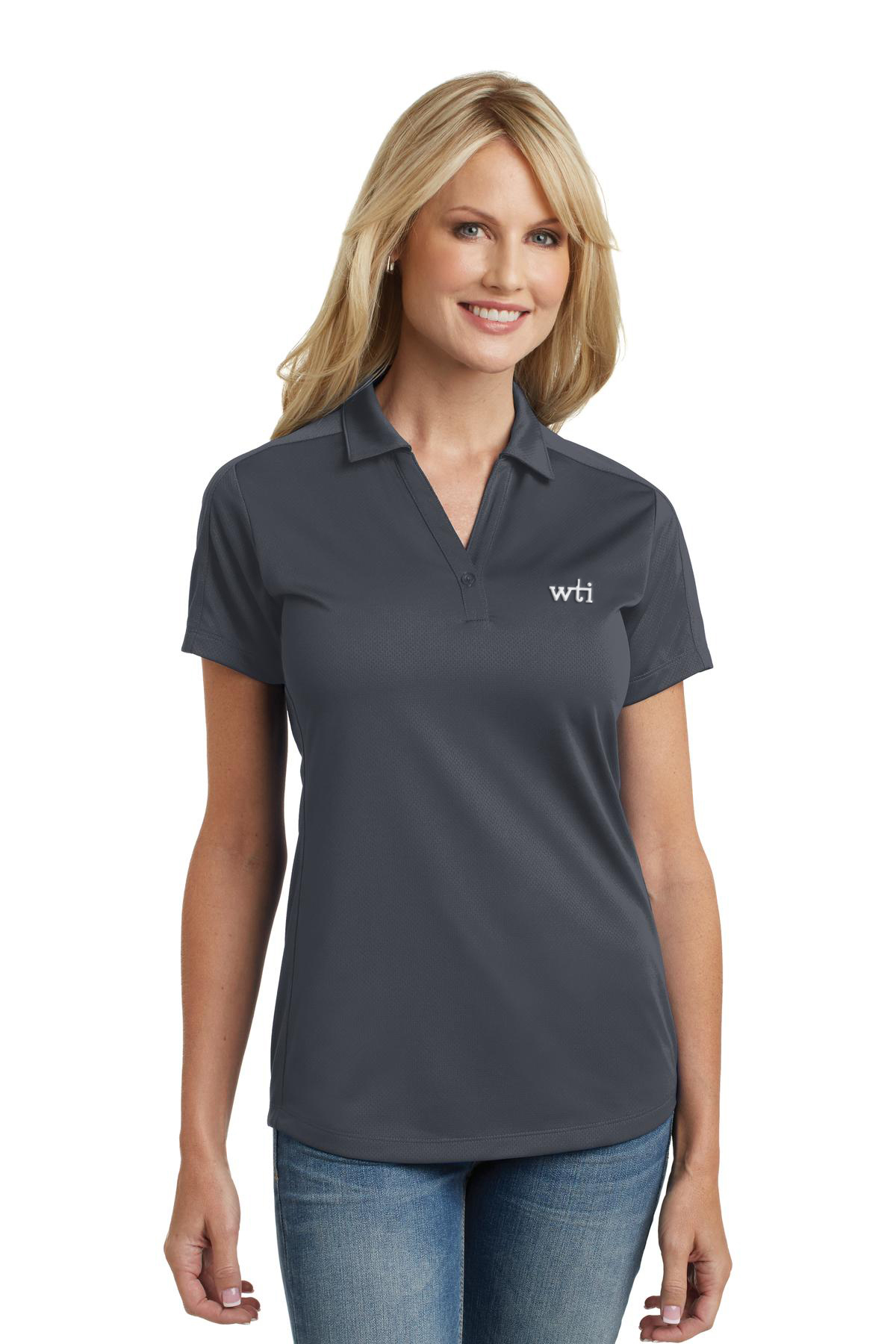 PA Ladies Diamond Jacquard Polo. L569. Prices Starting At $23!