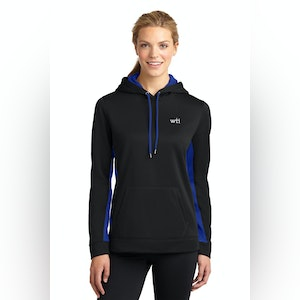 ST Ladies Sport-Wick Fleece Colorblock Hooded Pullover. LST235. Prices Starting At $35!