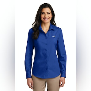 PA Ladies Lng Slv Carefree Poplin Shirt. LW100. Prices Starting At $23!