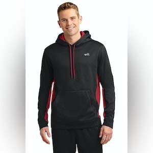 ST Sport-Wick Fleece Colorblock Hooded Pullover. ST235. Prices Starting At $35!